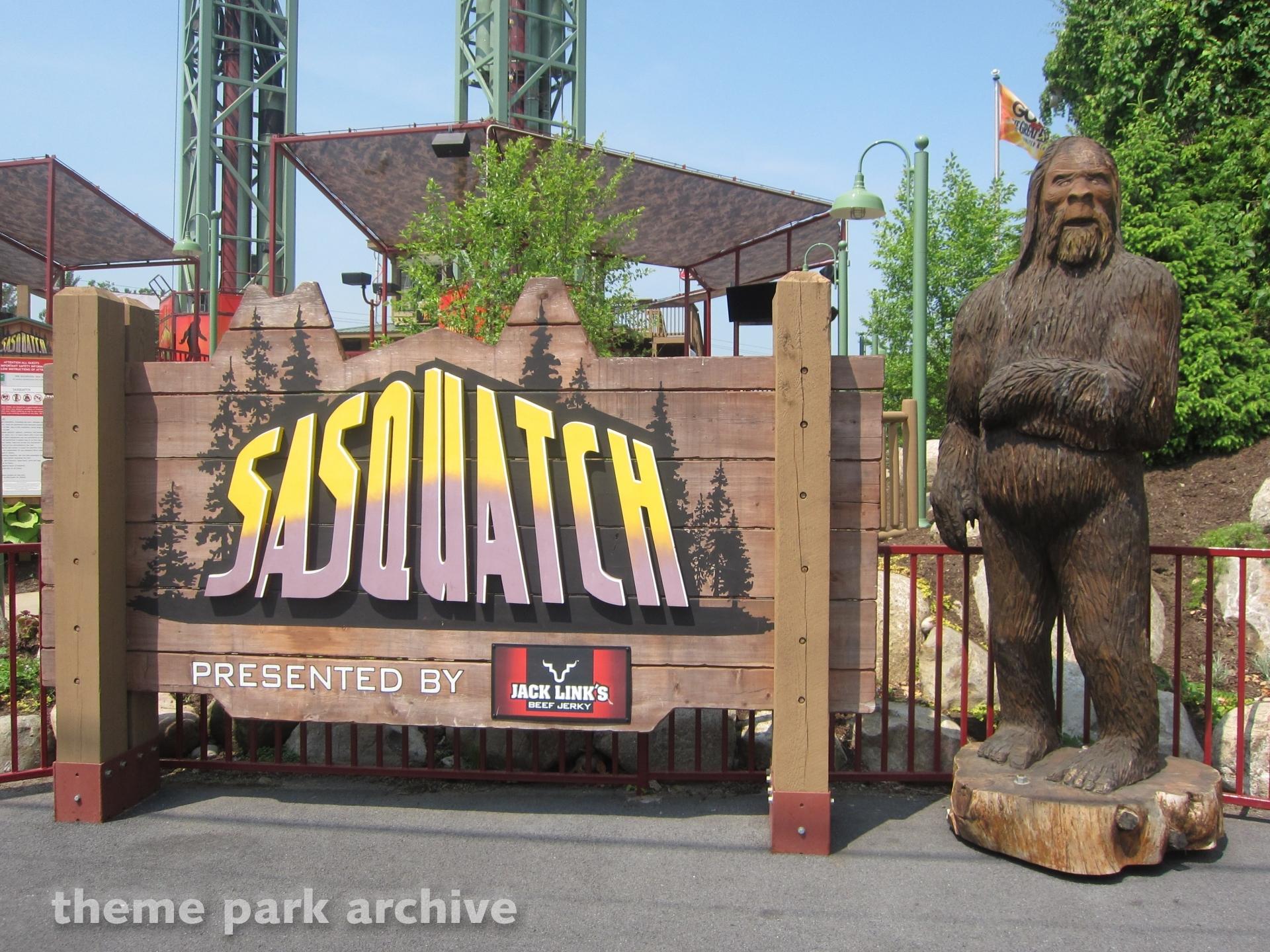 Sasquatch at Great Escape & Splashwater Kingdom