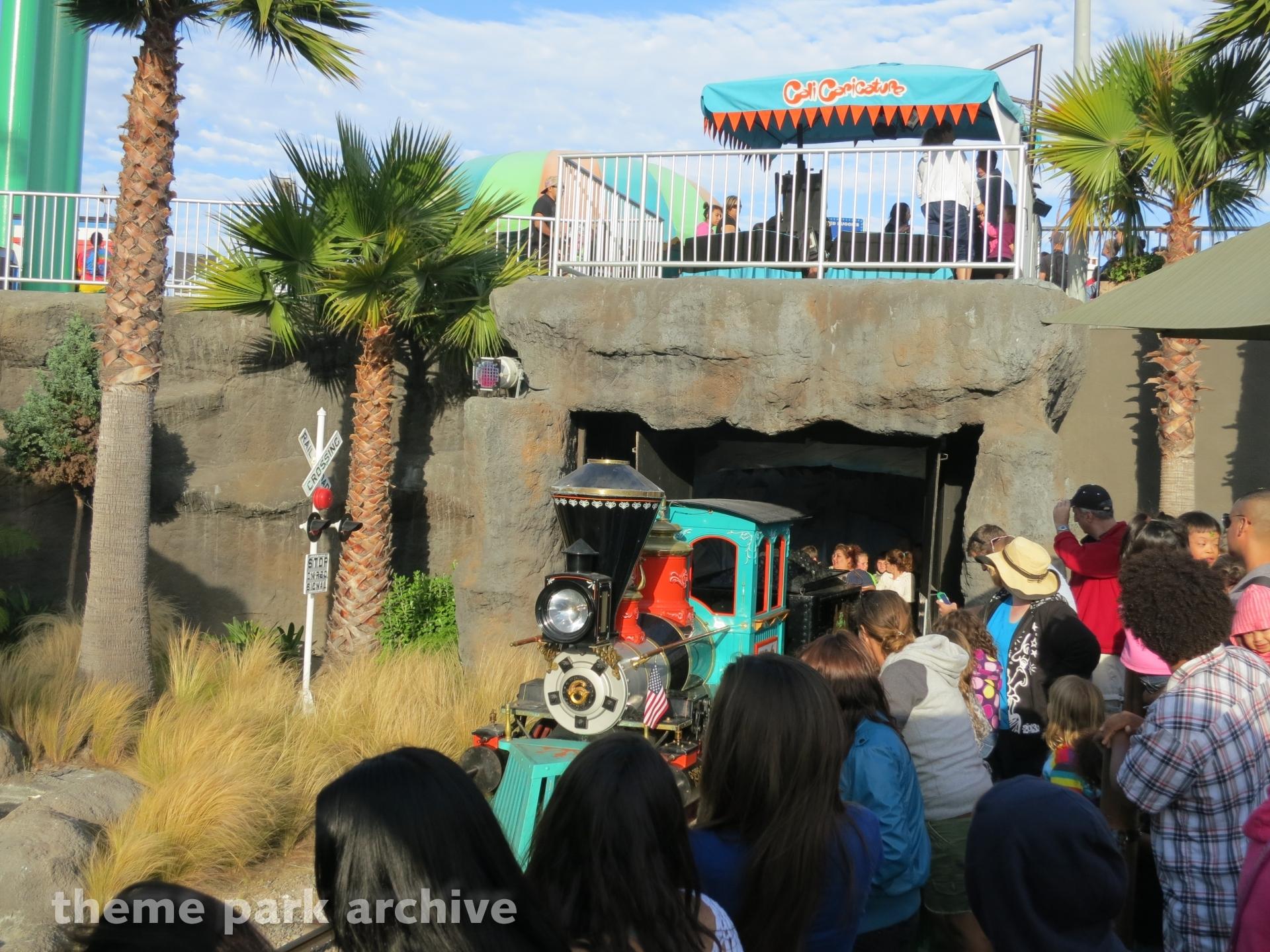 Cave Train Adventure At Santa Cruz Beach Boardwalk Theme Park Archive