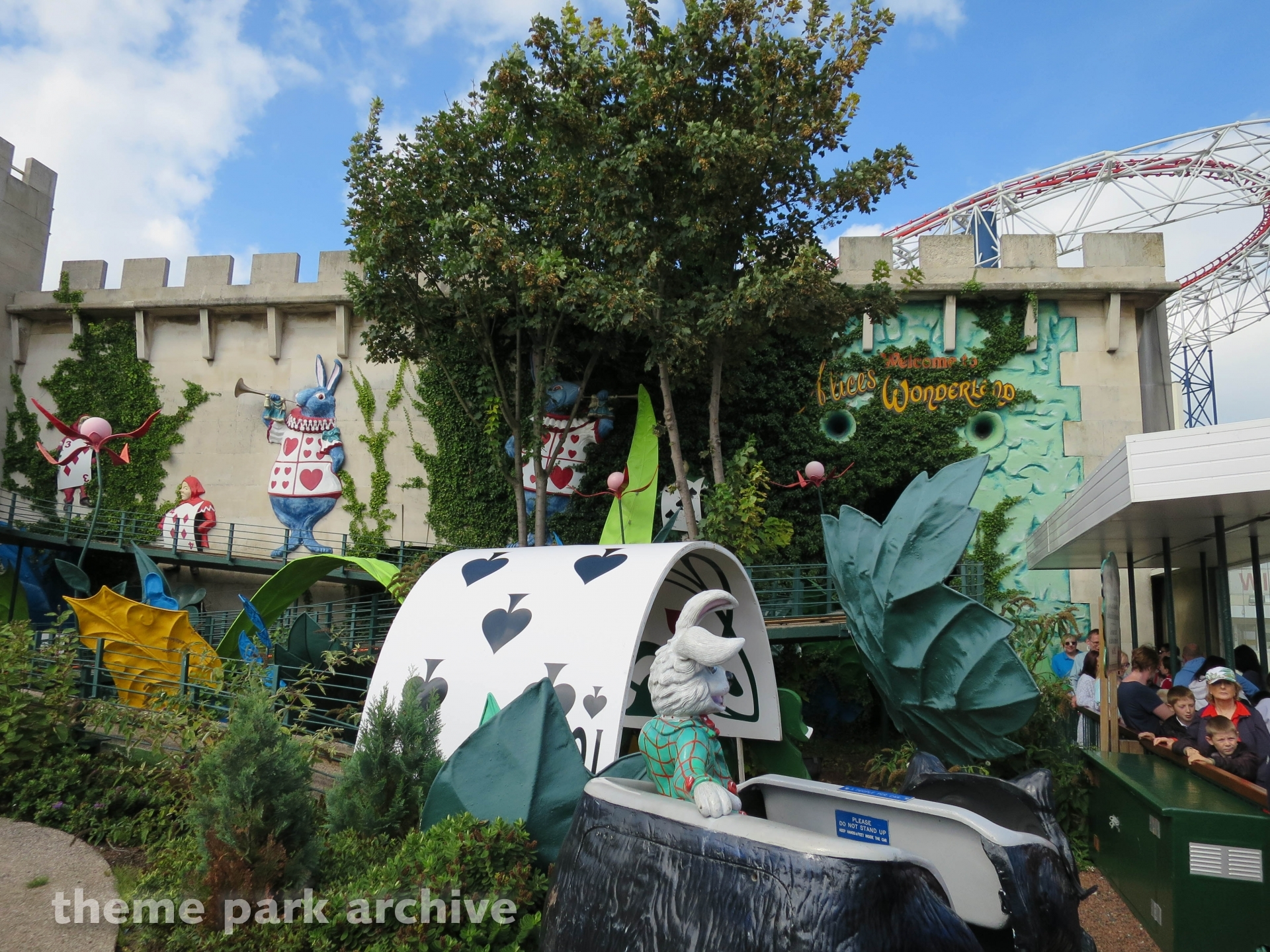 alice in wonderland at blackpool pleasure beach theme park archive