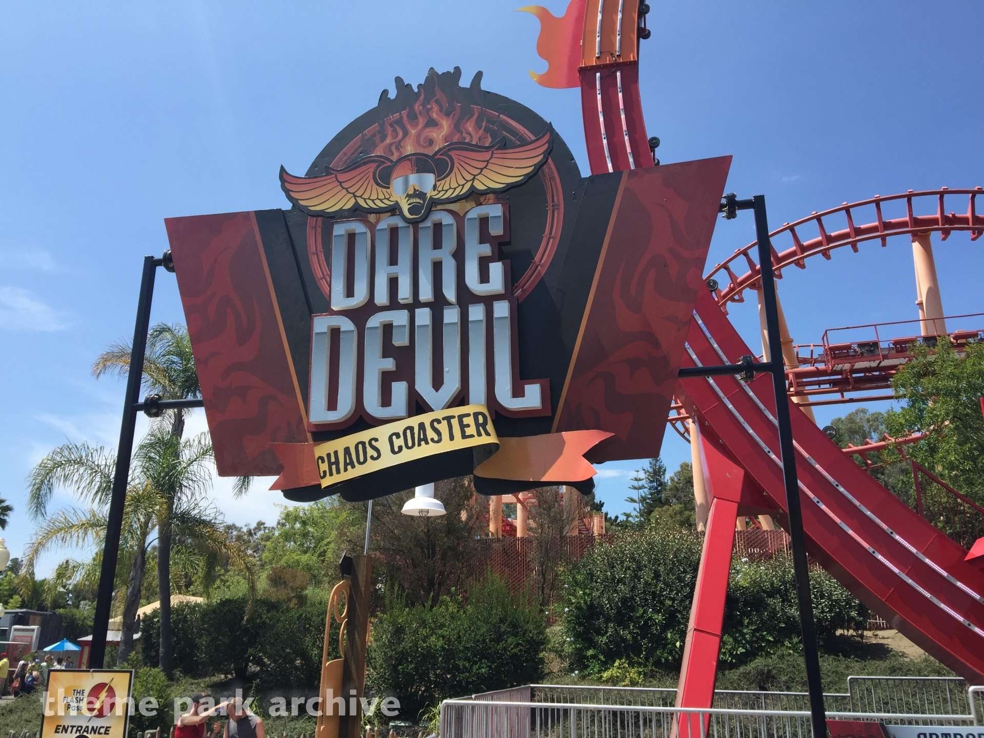 Dare Devil Chaos Coaster at Six Flags Discovery Kingdom