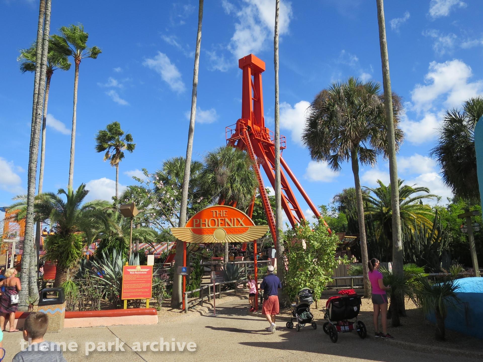Phoenix At Busch Gardens Tampa Theme Park Archive