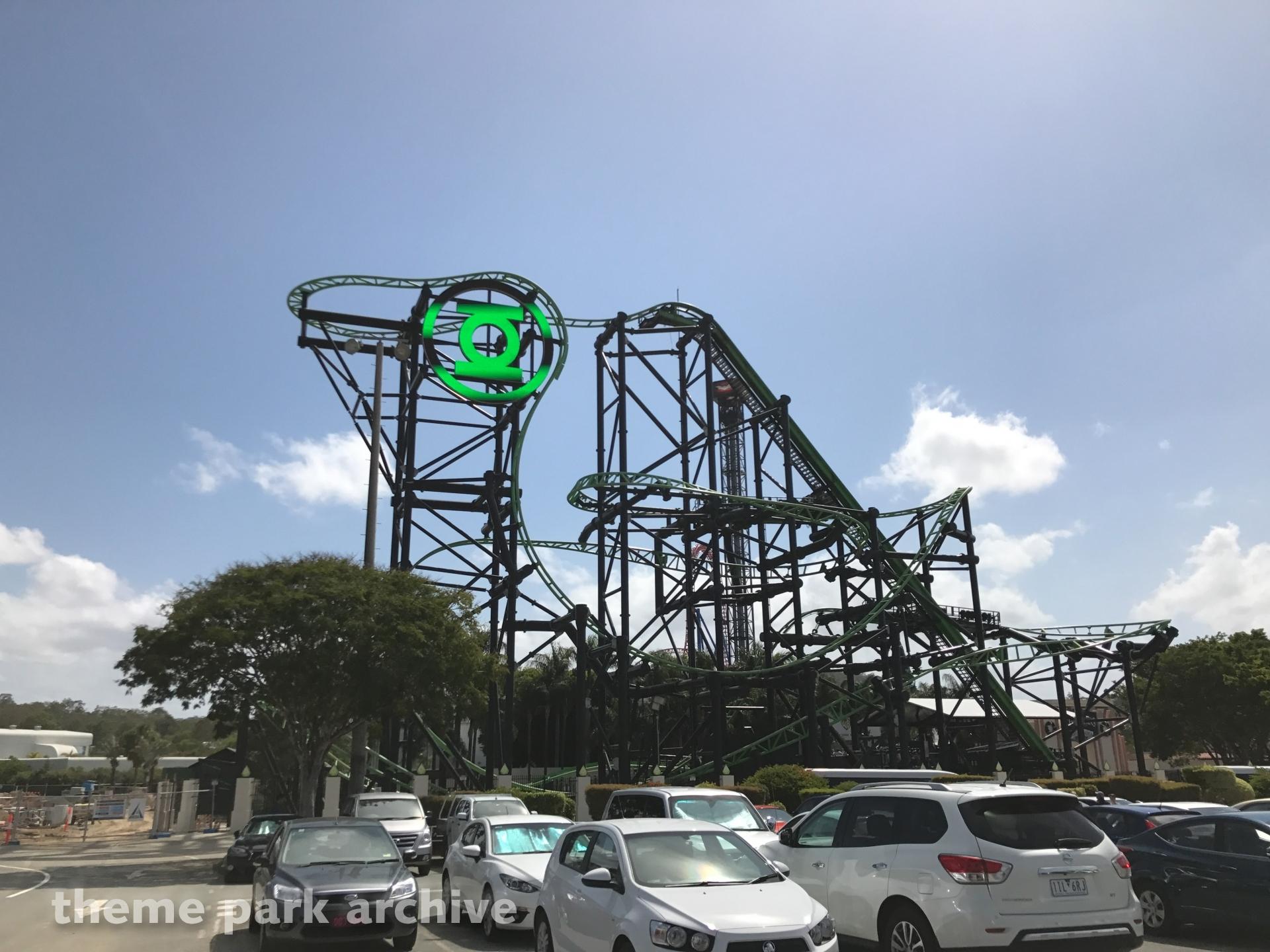 Green Lantern Coaster At Warner Bros Movie World Theme Park Archive