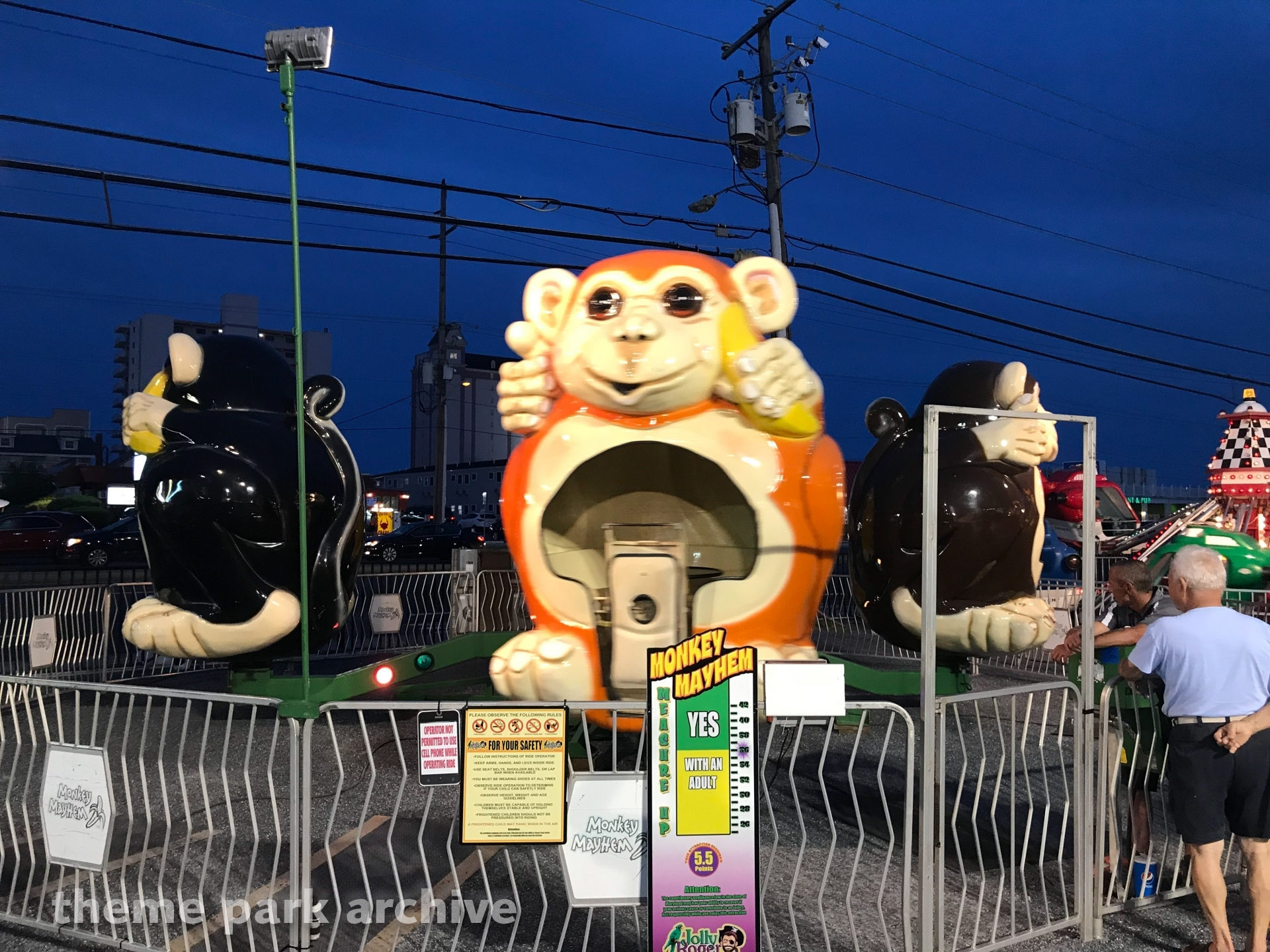 Monkey Mayhem at Jolly Roger 30th Street Amusement Park