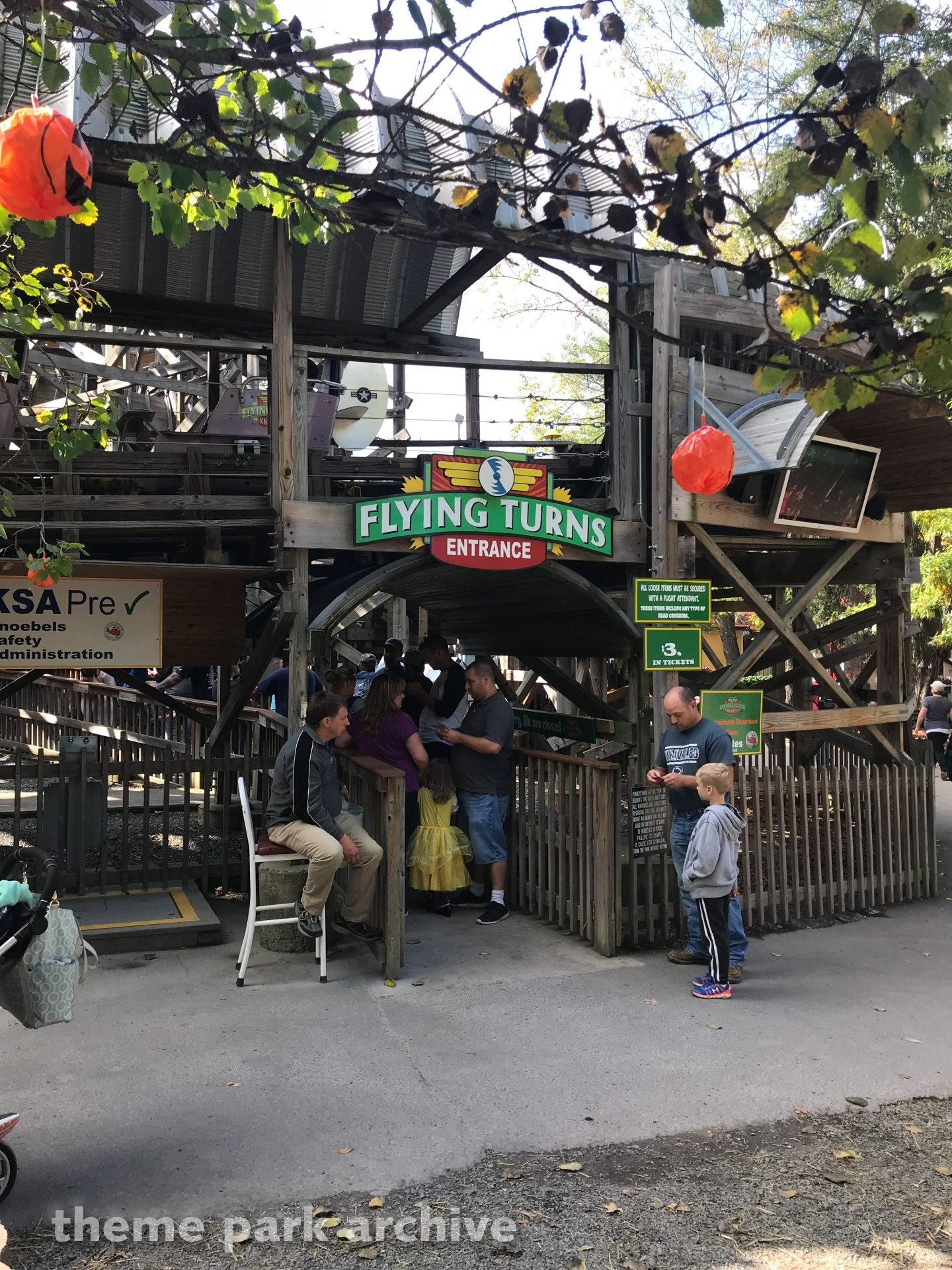 Flying Turns at Knoebels Amusement Resort