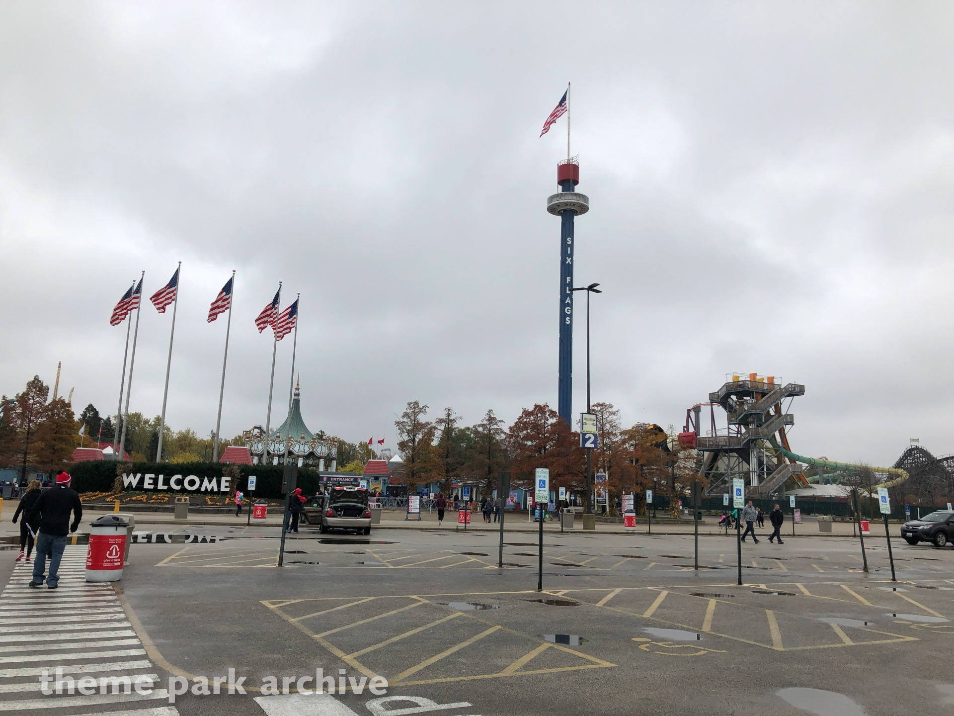 Sky Trek Tower at Six Flags Great America | Theme Park Archive