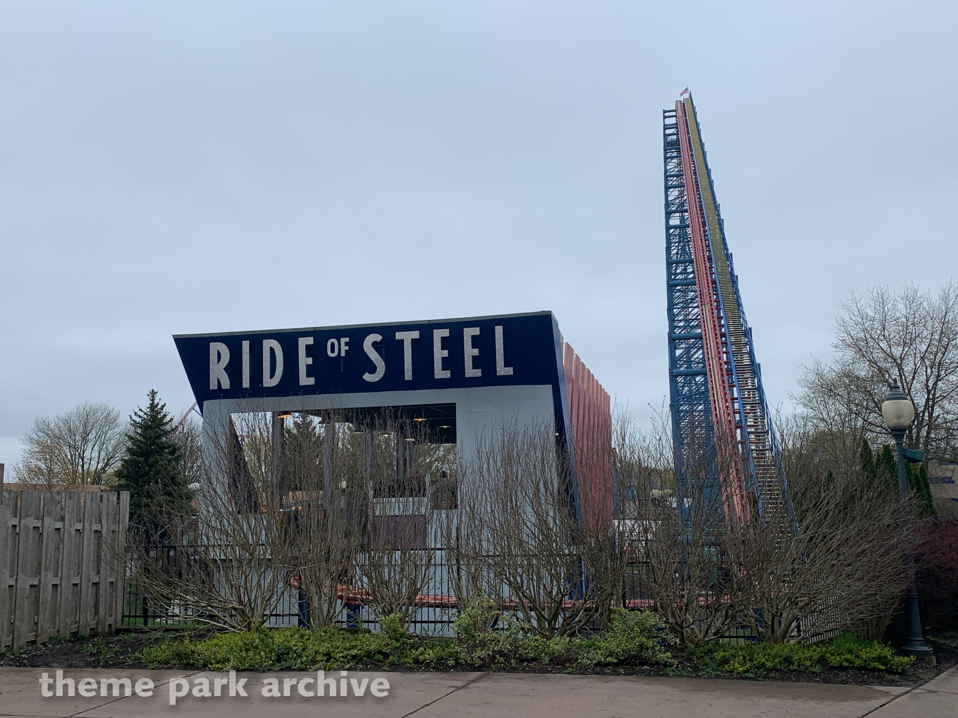 Ride of Steel at Six Flags Darien Lake