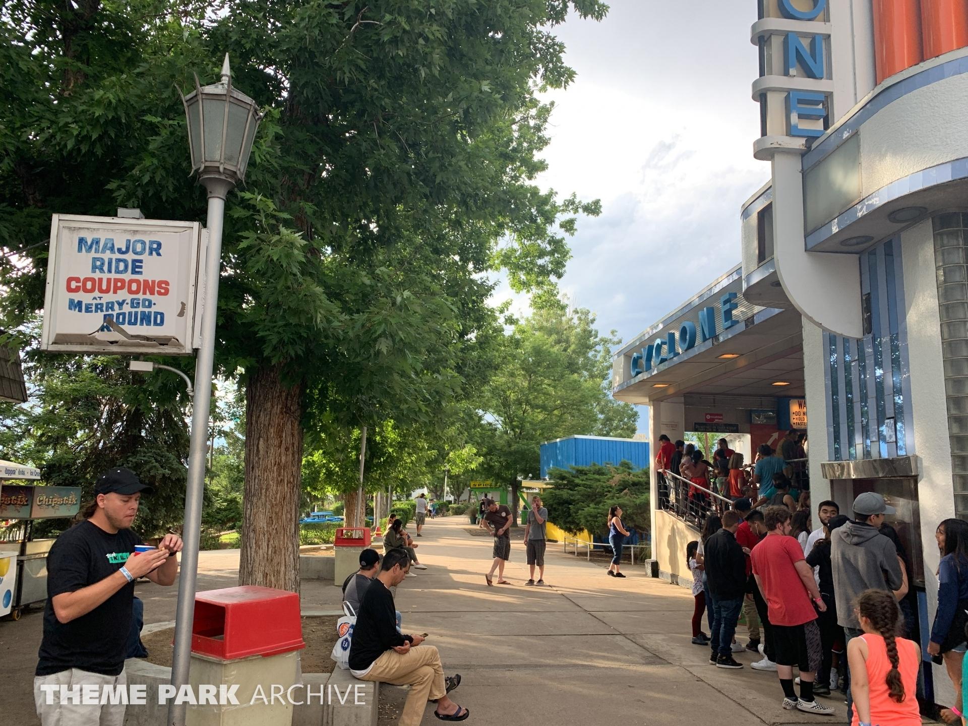 Cyclone at Lakeside Amusement Park