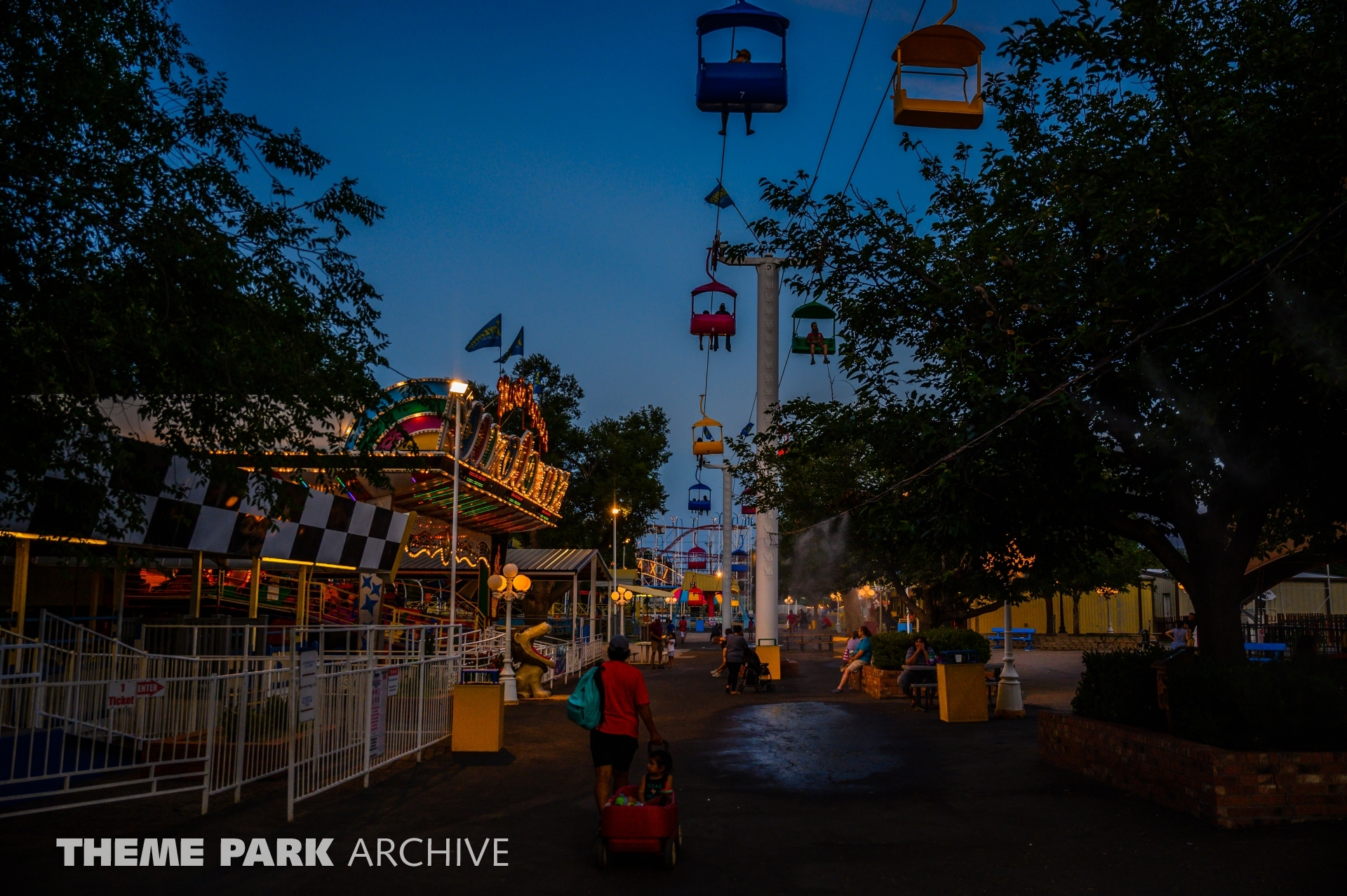 Sky Ride at Joyland Amusement Park