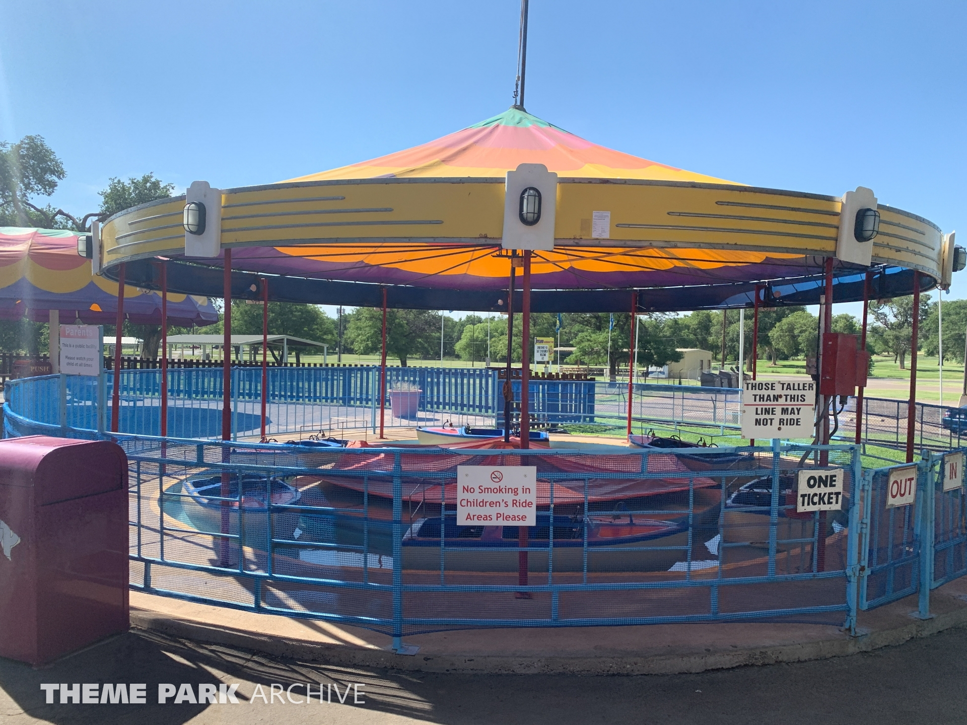 Boats at Joyland Amusement Park