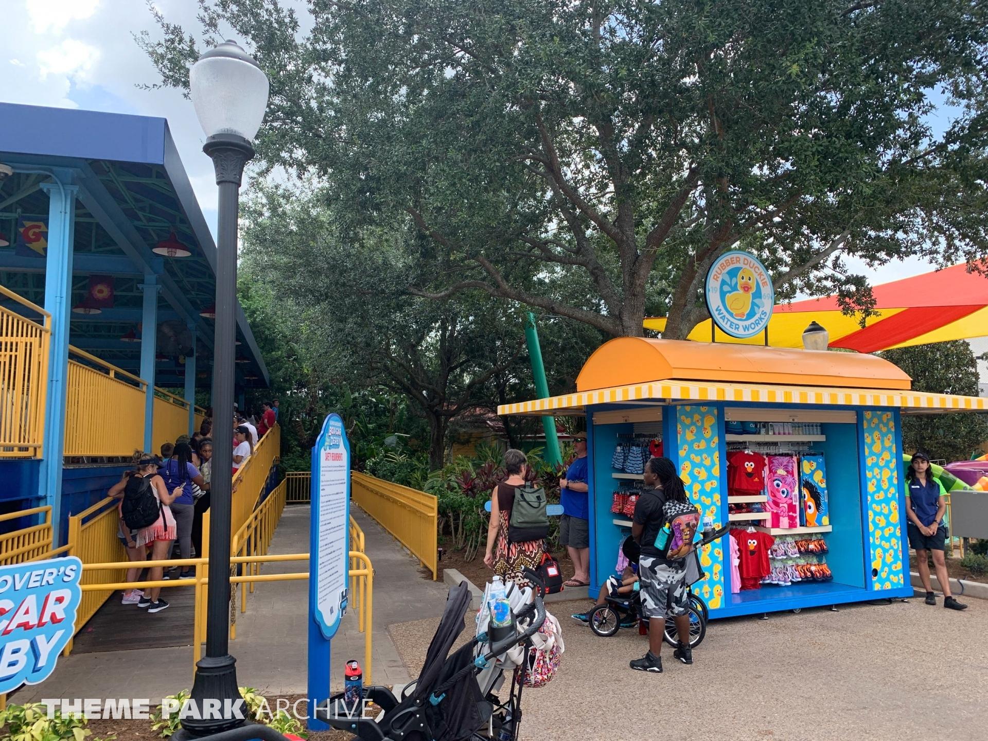 Super Grover's Box Car Derby at Sea World Orlando