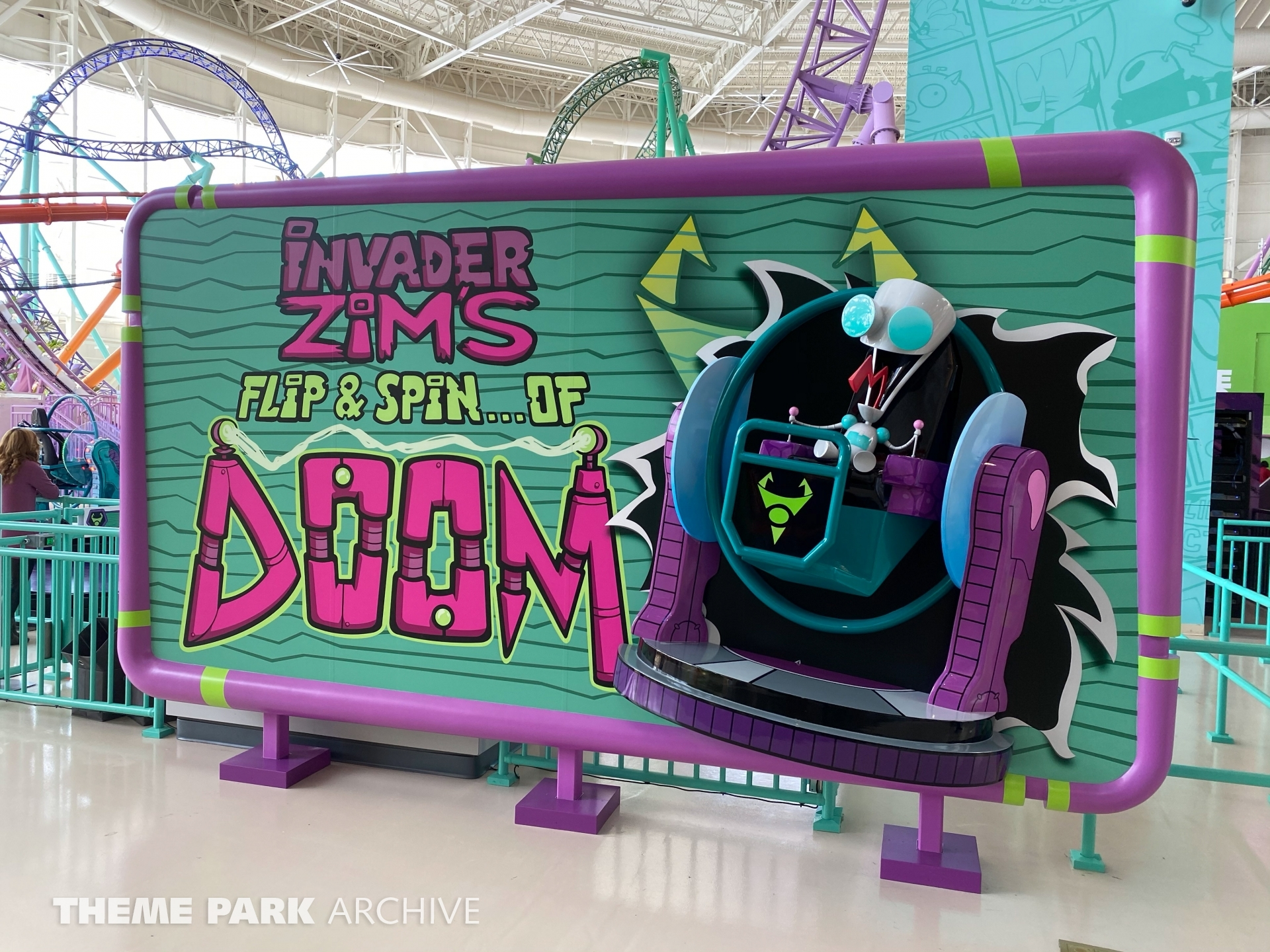 Invader Zim's Flip & Spin of Doom at Nickelodeon Universe at American Dream