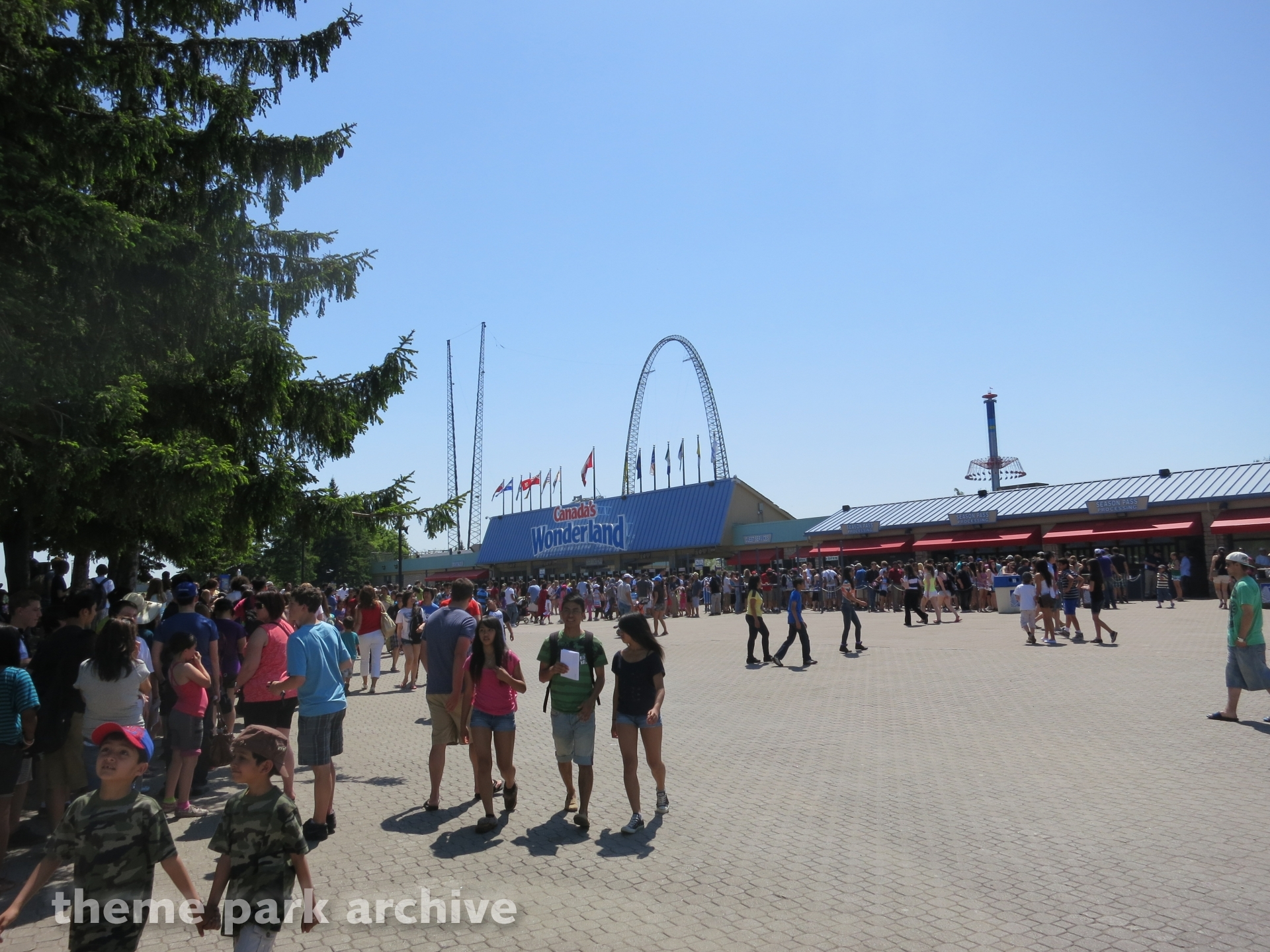 Main Entrance and Exit at Canada's Wonderland