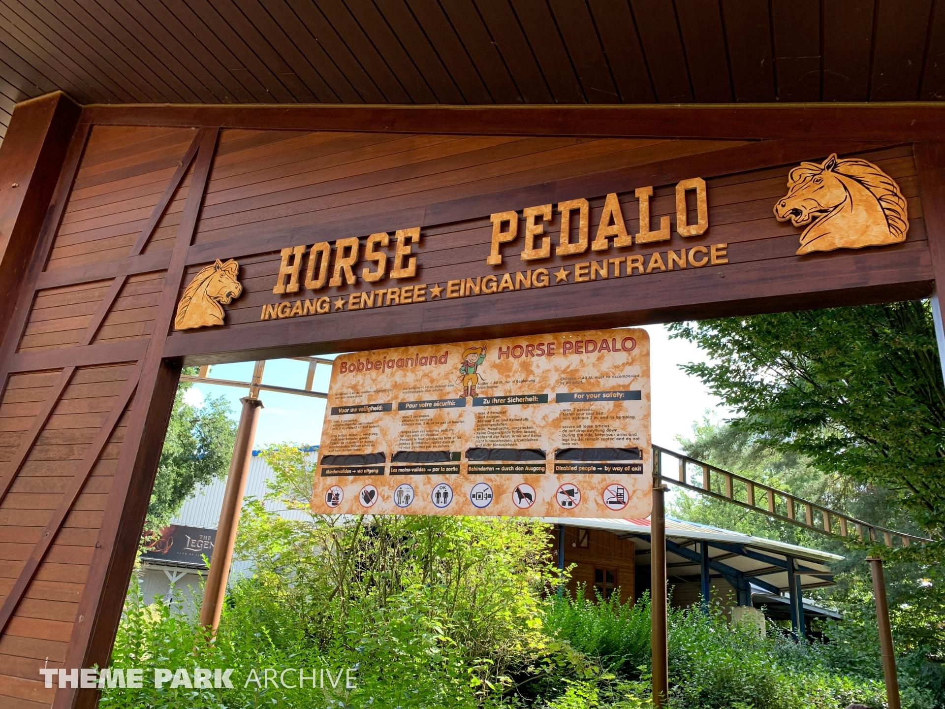 Horse Pedalo at Bobbejaanland