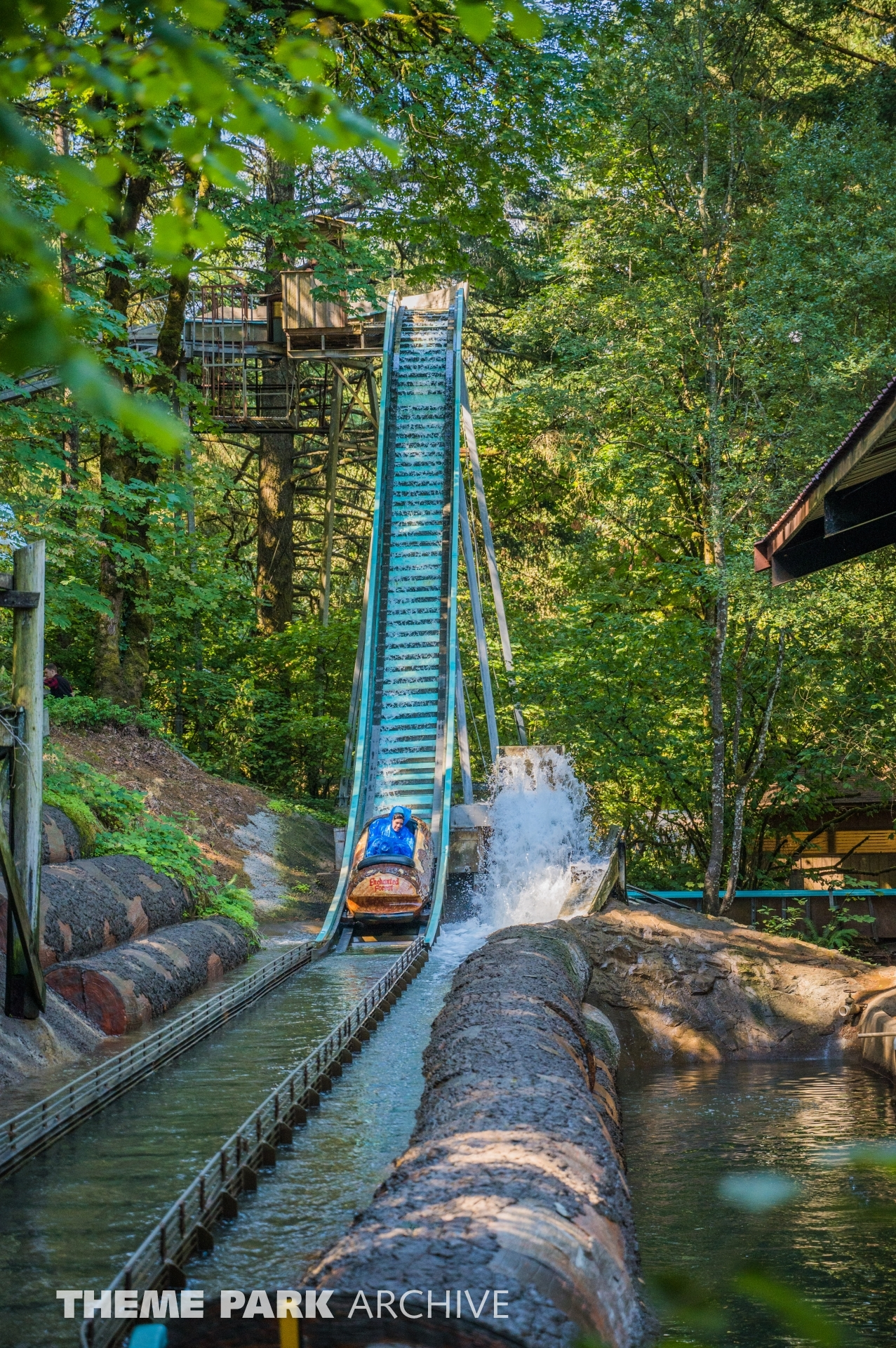 Big Timber Log Ride at Enchanted Forest