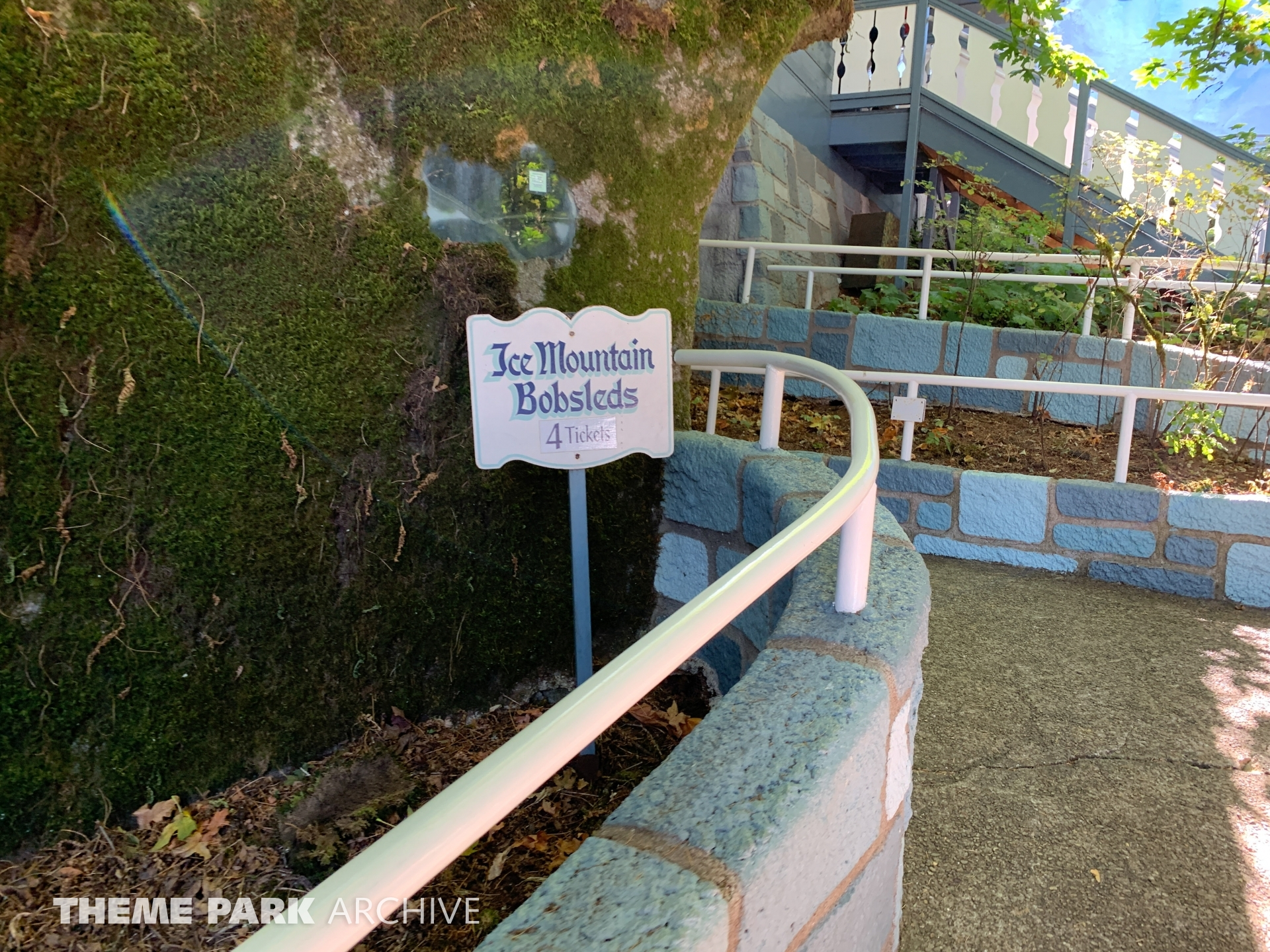 Ice Mountain Bobsled Roller Coaster at Enchanted Forest