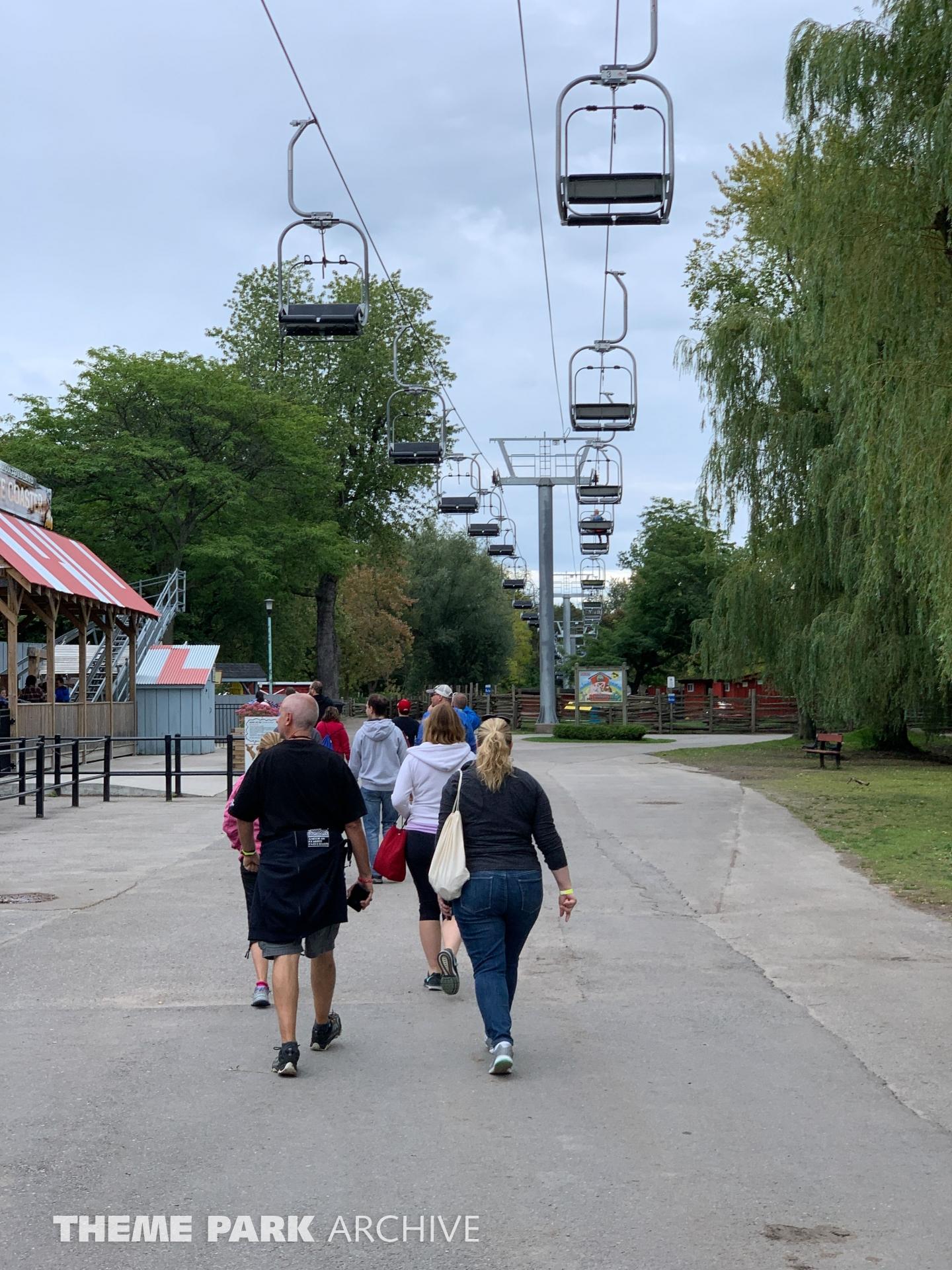 Sky Ride at Centreville Amusement Park