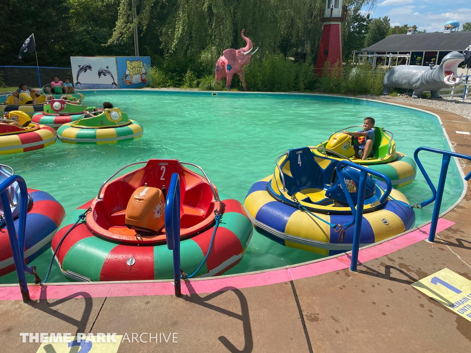 Bumper Boats at Sluggers & Putters Amusement Park