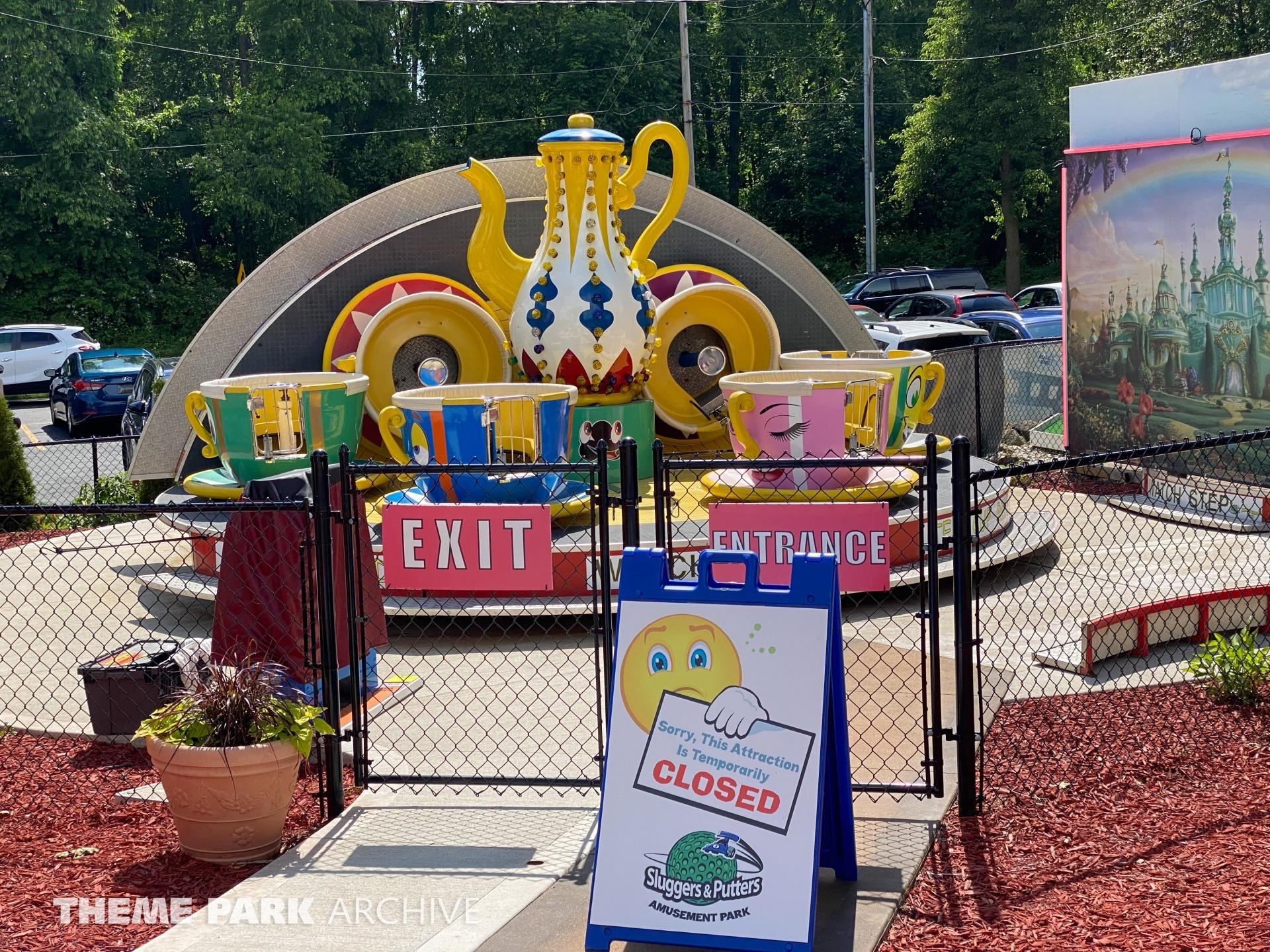 Tea Cups at Sluggers & Putters Amusement Park