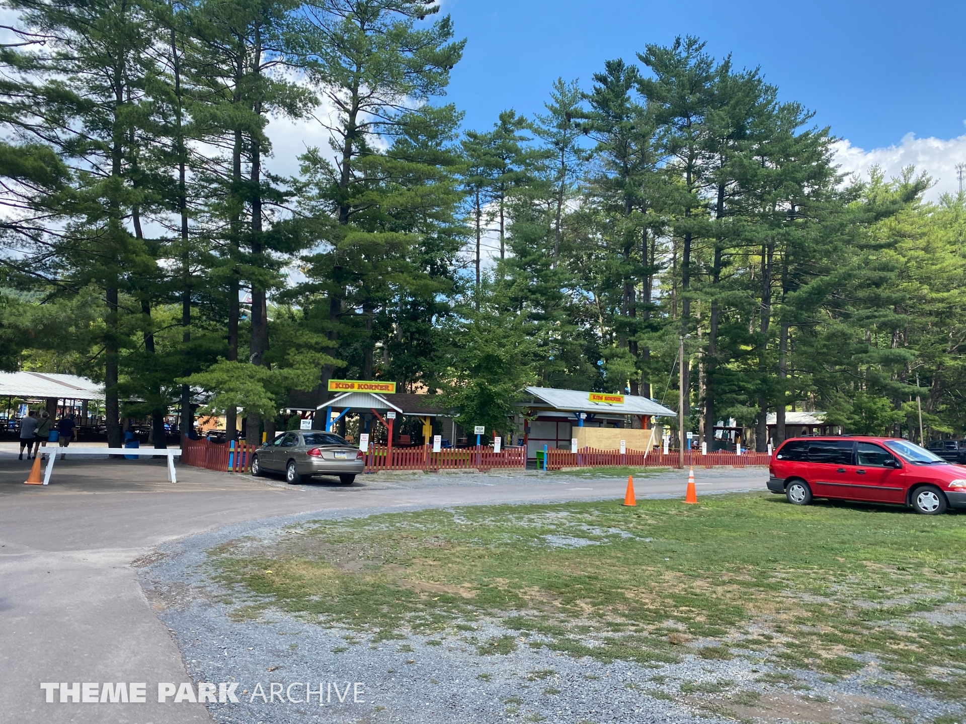 Parking at Knoebels Amusement Resort