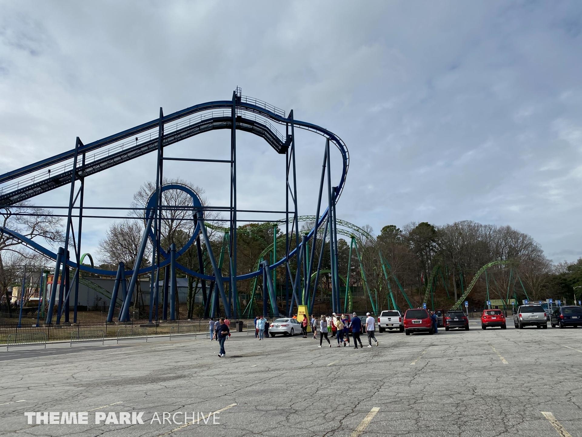 Batman The Ride at Six Flags Over Georgia
