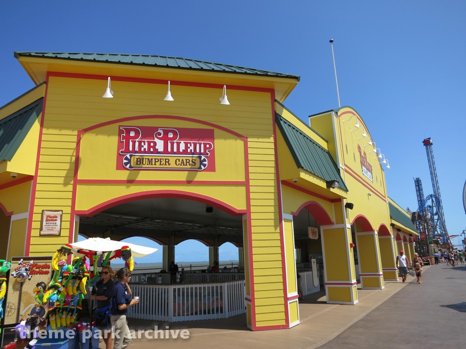 Pier PIleup Bumper Cars at Galveston Island Historic Pleasure Pier