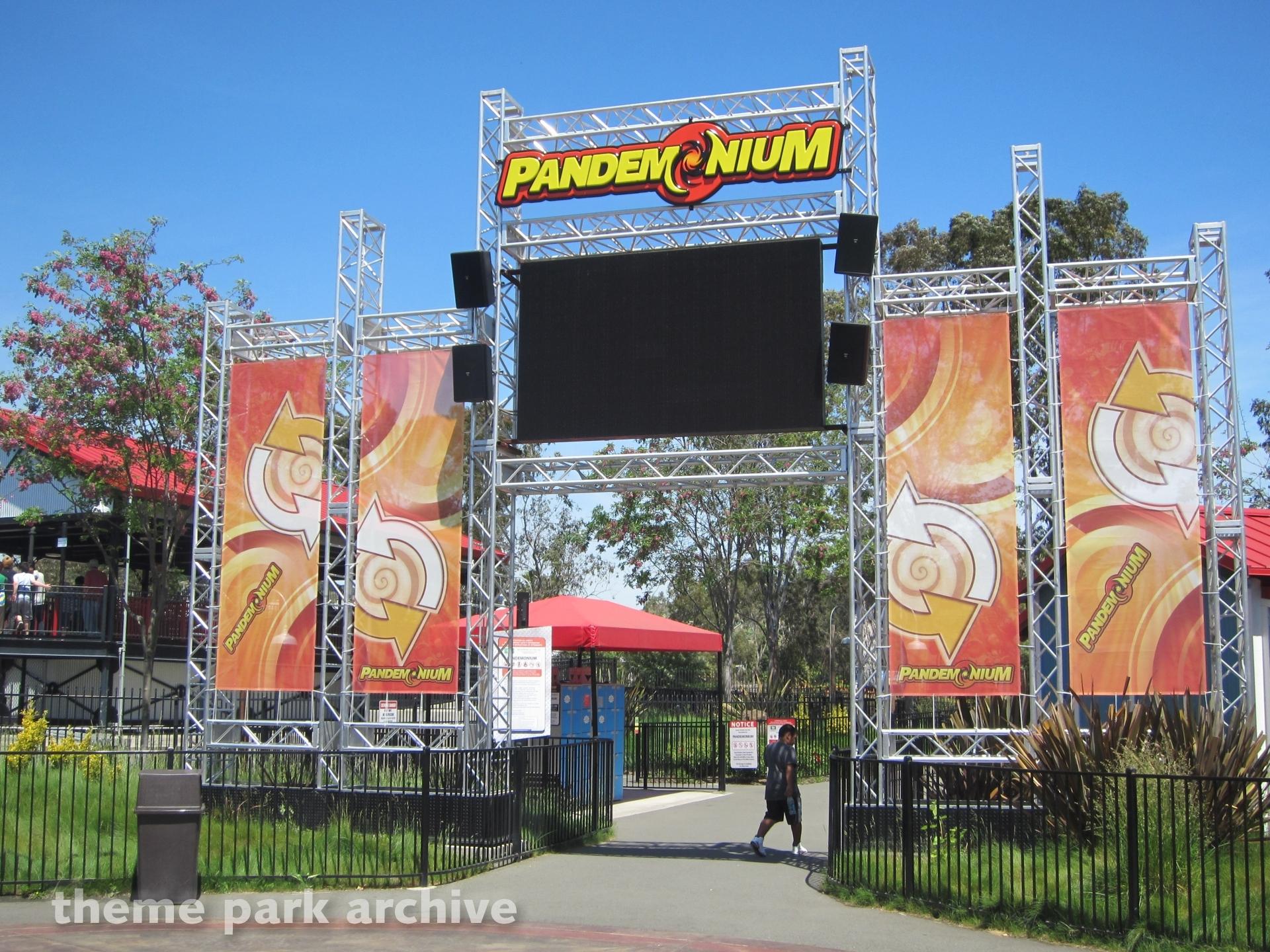 Pandemonium at Six Flags Discovery Kingdom