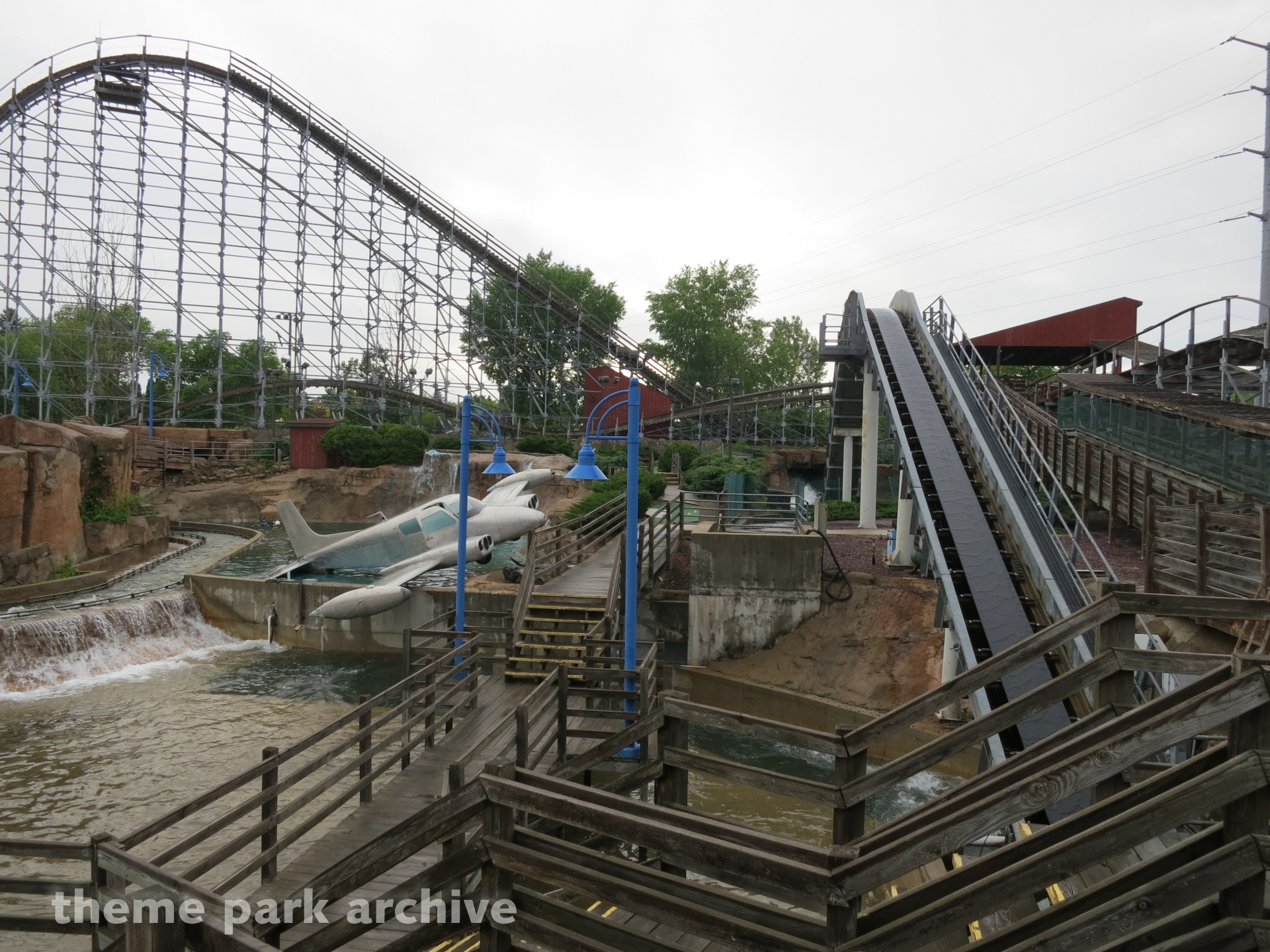 Timber Wolf Howling Log Flume at Timber Falls Adventure Park