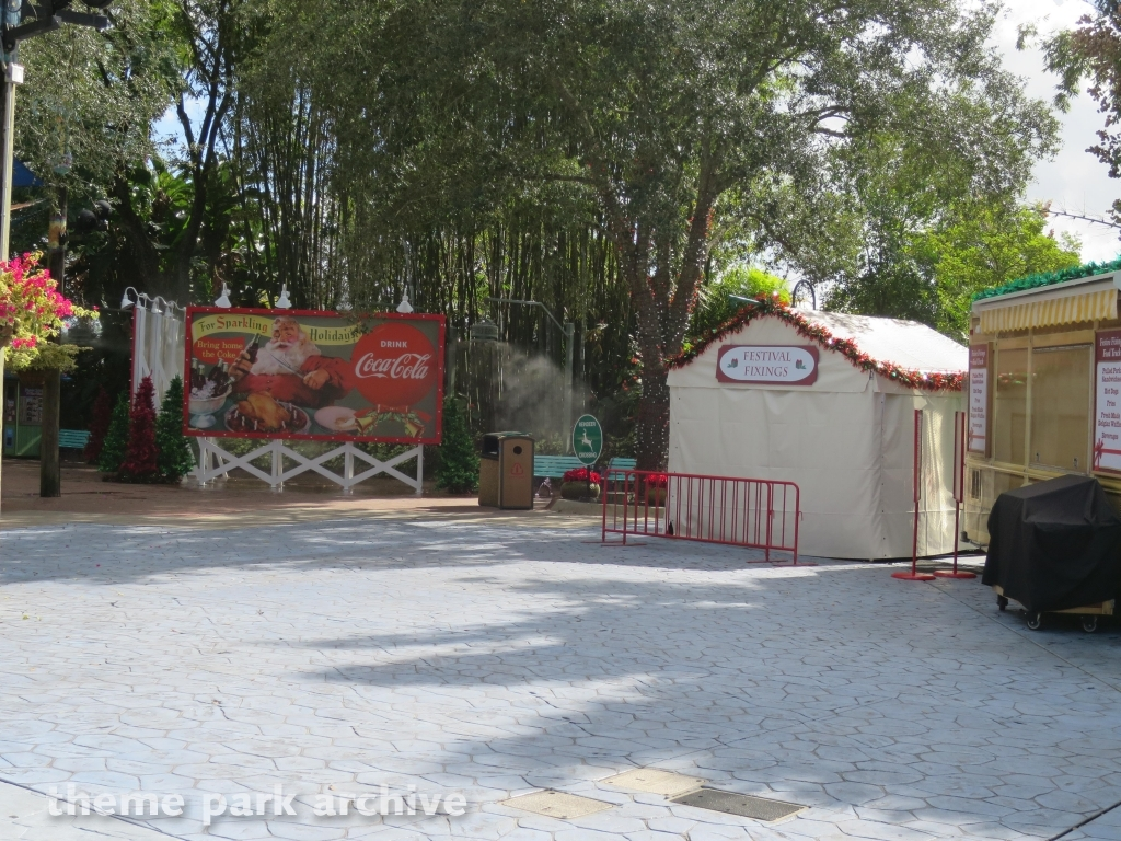 Theme Park Archive Busch Gardens Tampa Christmas Town 2015