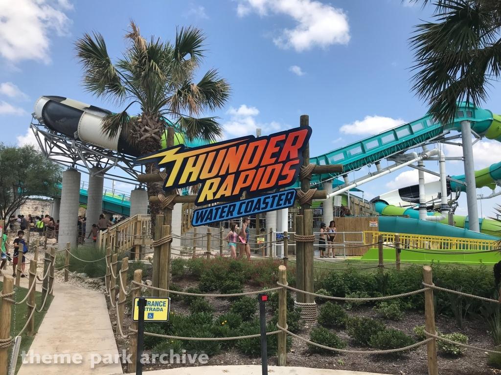 Thunder Rapids Water Coaster at Six Flags Fiesta Texas