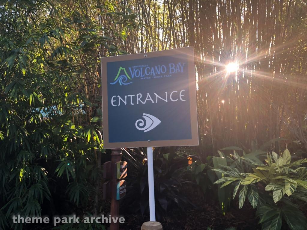 Entrance at Volcano Bay