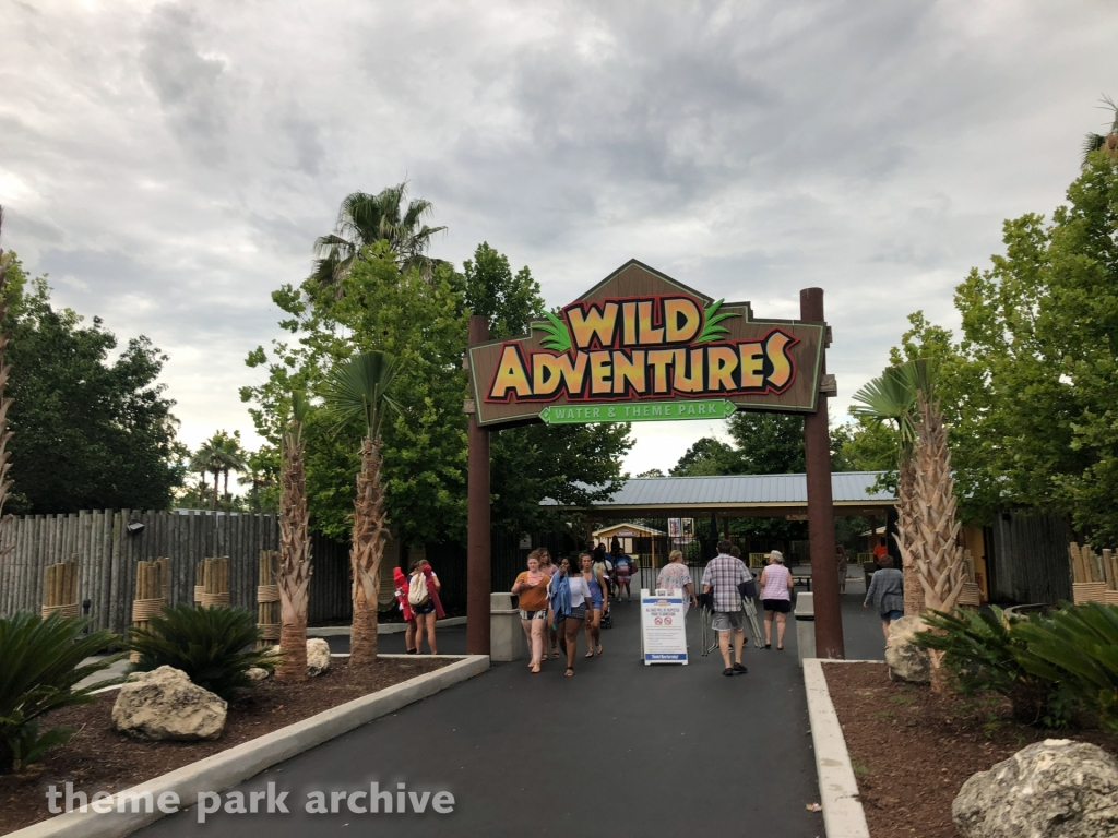 Entrance at Wild Adventures