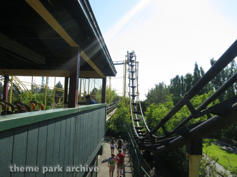 Corkscrew at Silverwood Theme Park and Boulder Beach Waterpark