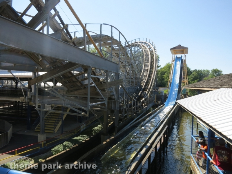 Rocky's Rapids Log Flume at Indiana Beach