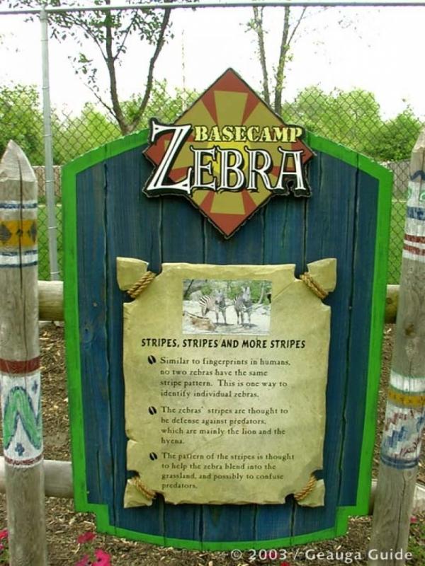 Base Camp Zebra at Geauga Lake