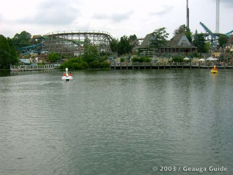 Swan Boats at Geauga Lake
