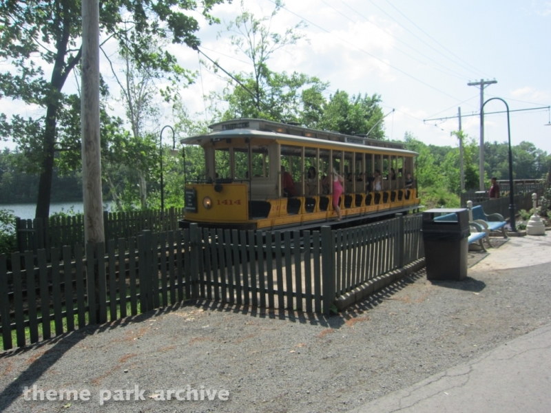 Trolley at Lake Compounce