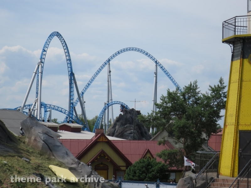 blue fire Megacoaster at Europa Park
