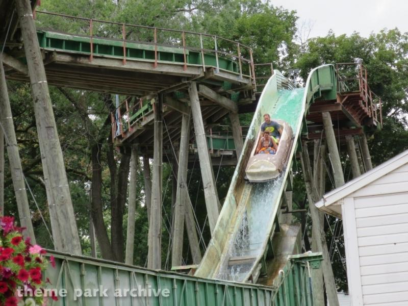 Boji Falls Log Ride at Arnolds Park
