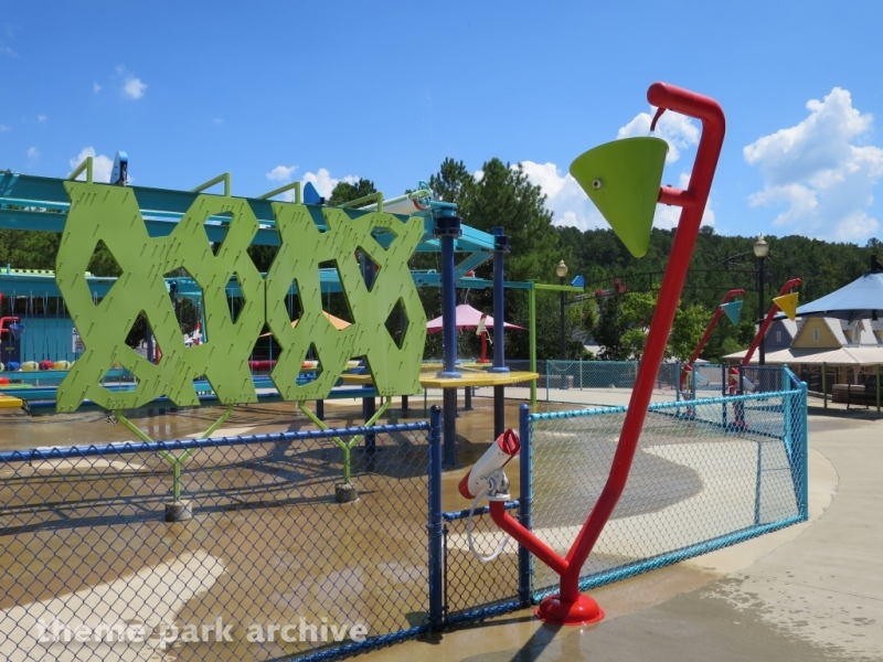 Wipeout Adventure Course at Alabama Splash Adventure