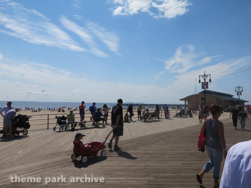 Boardwalk at Luna Park at Coney Island