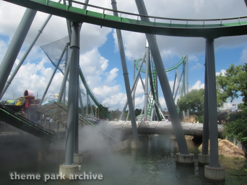 The Incredible Hulk Coaster at Universal Islands of Adventure