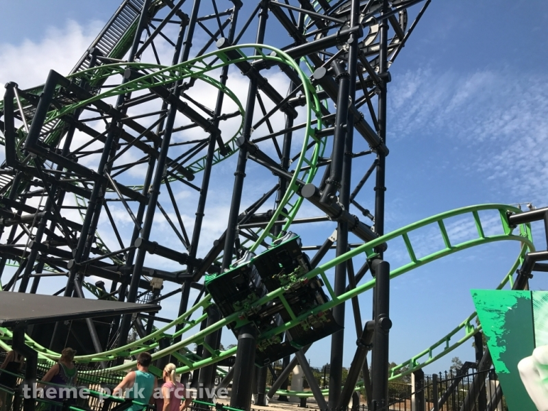 Green Lantern Coaster at Warner Bros. Movie World