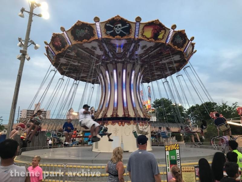 Swings at Jolly Roger 30th Street Amusement Park