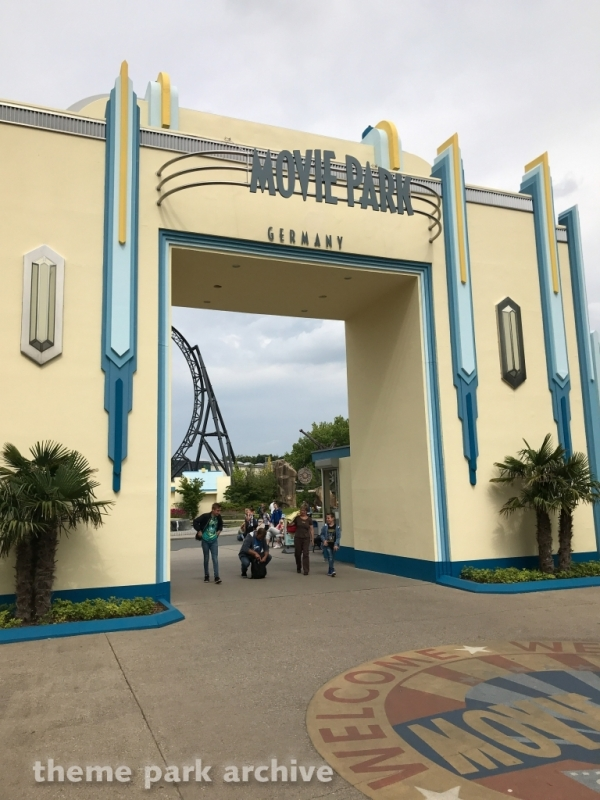 Entrance at Movie Park Germany