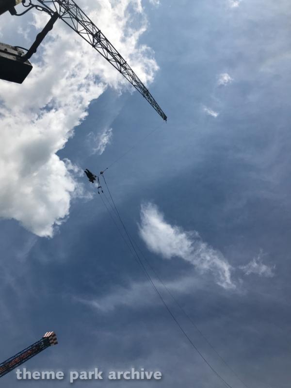 Skydiver at Walibi Holland