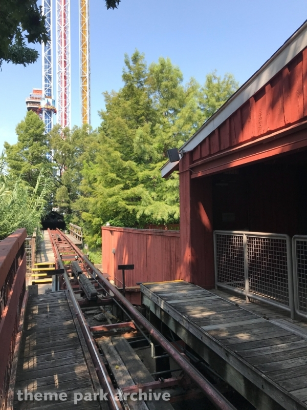 The Runaway Mine Train at Six Flags Over Texas