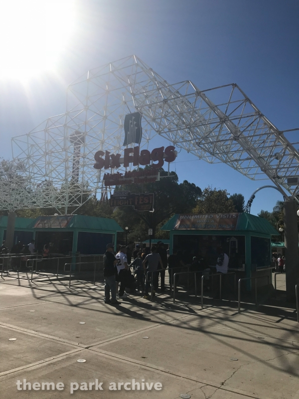 Entrance at Six Flags Magic Mountain
