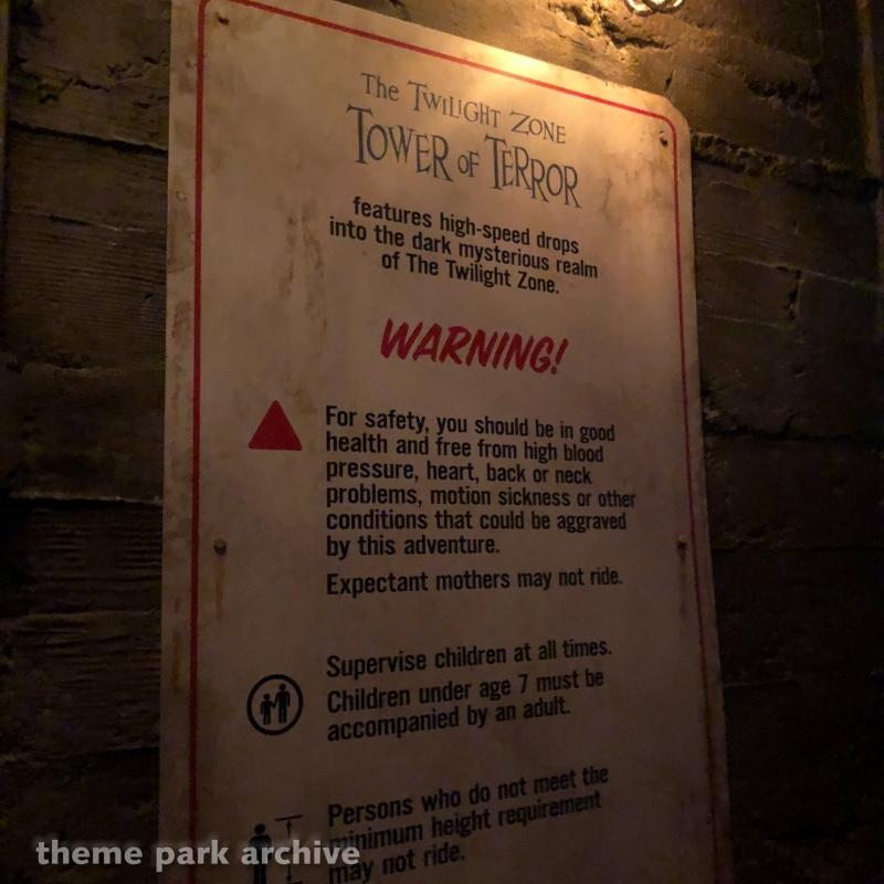 The Twilight Zone Tower of Terror at Walt Disney Studios