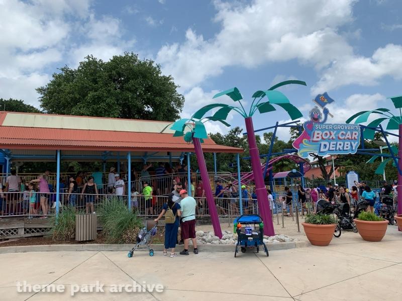 Super Grover's Box Car Derby at SeaWorld San Antonio