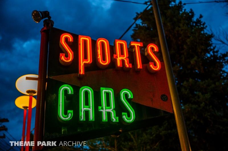 Sports Cars at Lakeside Amusement Park
